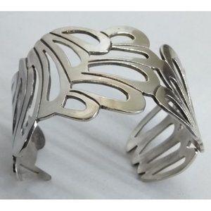 Sterling Silver Open Design Cuff Bracelet